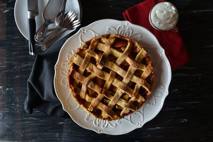 Rustic Nectarine Pie